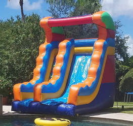 18ft water slide bounce house